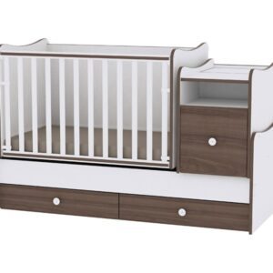 Krevetac za bebe Trend plus white walnut, MOON & STARS