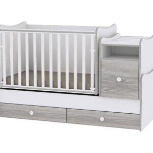 Krevetac za bebe Trend plus white artwood, MOON & STARS