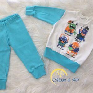 Pidžama za bebe 03, MOON & STARS